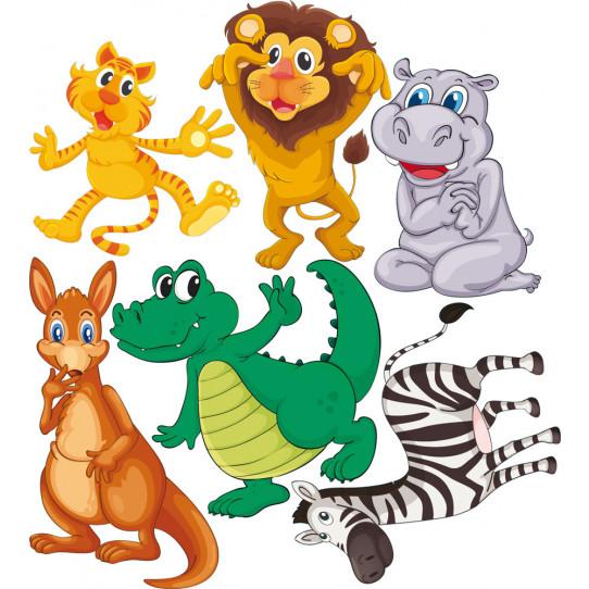 Kit stickers 6 animaux des prix 50 moins cher qu 39 en magasin for Miroir 90x100