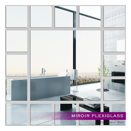 Miroir plexiglass acrylique carr s minimaxi des prix for Miroir en acrylique