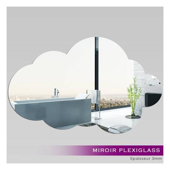 Miroir plexiglass acrylique nuage 4 des prix 50 moins for Miroir 50x80