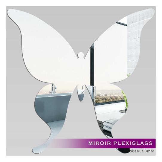 Miroir plexiglass acrylique papillon 2 des prix 50 for Miroir acrylique