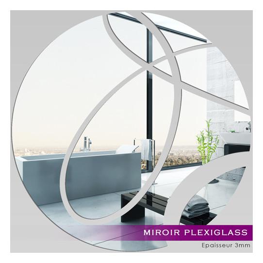 Miroir plexiglass acrylique rond abstrait des prix 50 for Miroir 50x50
