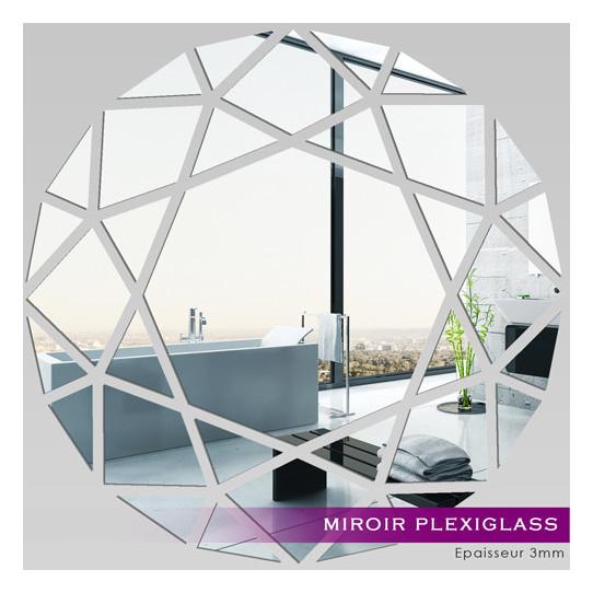 Miroir plexiglass acrylique rond mosa que des prix 50 for Miroir 90x90