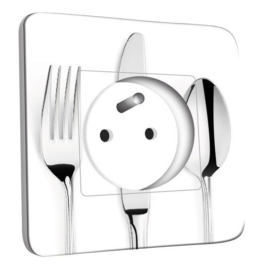 Prises et interrupteurs pour cuisines sur stickers muraux for Prise design cuisine