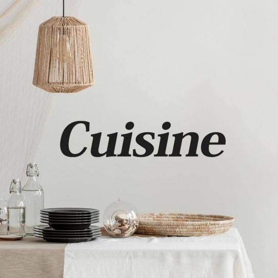 Stickers muraux phrase d co pour cuisine 50 sur les prix for Stickers phrase cuisine
