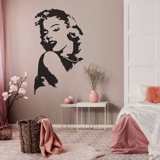 stickers marilyn monroe des prix 50 moins cher qu 39 en magasin. Black Bedroom Furniture Sets. Home Design Ideas