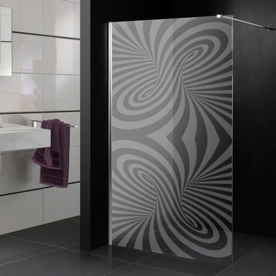 stickers paroi de douche d poli design des prix 50. Black Bedroom Furniture Sets. Home Design Ideas