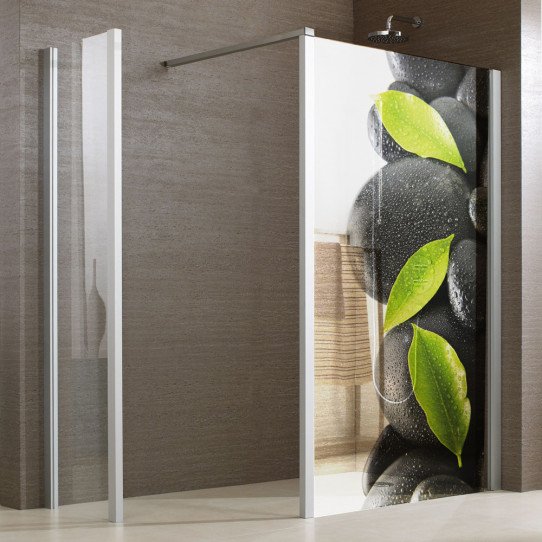 stickers paroi de douche semi translucide galets 3 des. Black Bedroom Furniture Sets. Home Design Ideas