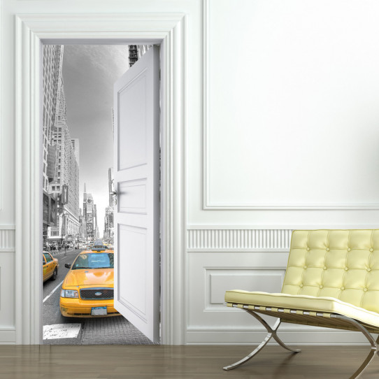 Stickers porte new york des prix 50 moins cher qu 39 en magasin - Sticker porte new york ...