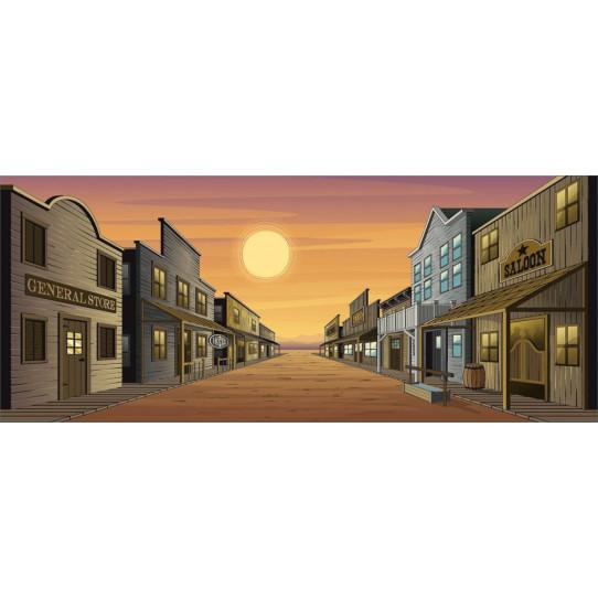 Stickers ville western des prix 50 moins cher qu 39 en magasin for Miroir 70x170