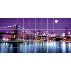 Stickers carrelage pont new york