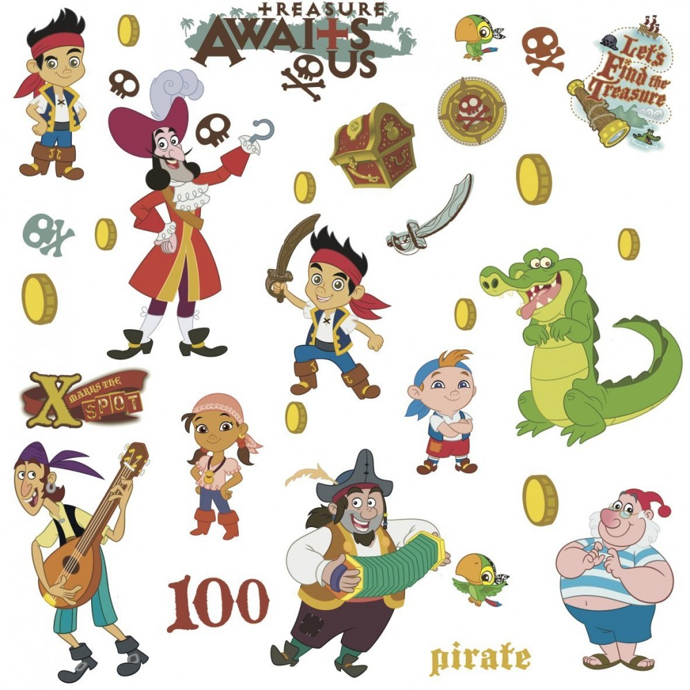 32 stickers jake et les pirates du pays imaginaire disney - Jake et les pirates ...