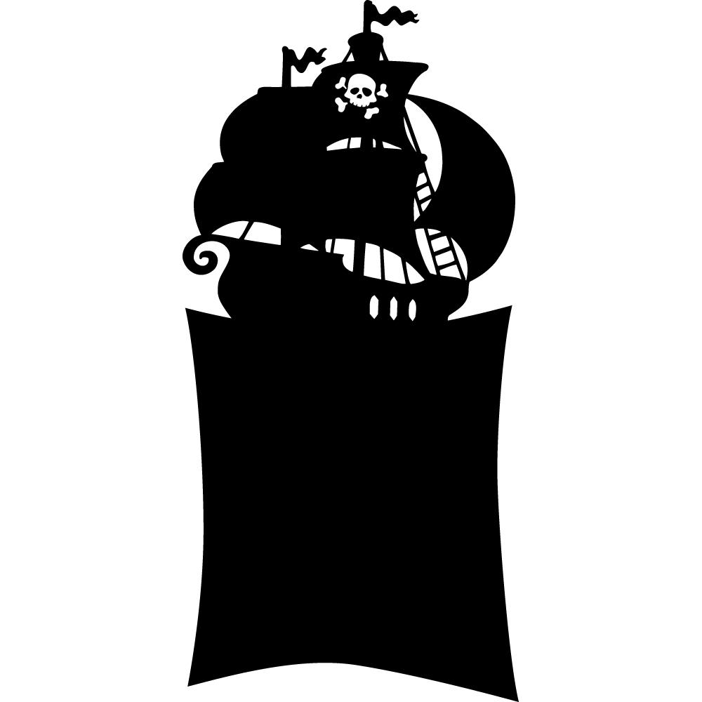 Stickers ardoise bateau pirate des prix 50 moins cher qu 39 en magasin - Pose stickers muraux ...