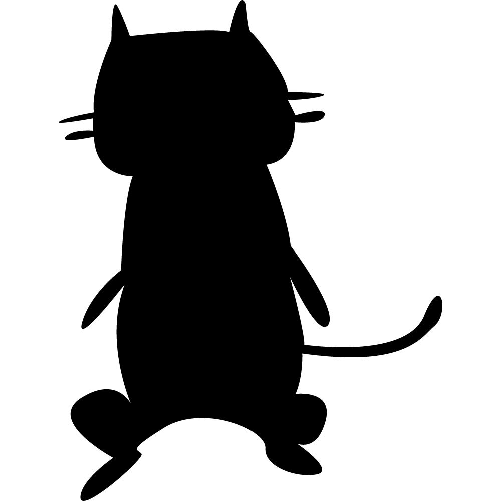 Stickers ardoise chat des prix 50 moins cher qu 39 en magasin - Pose stickers muraux ...
