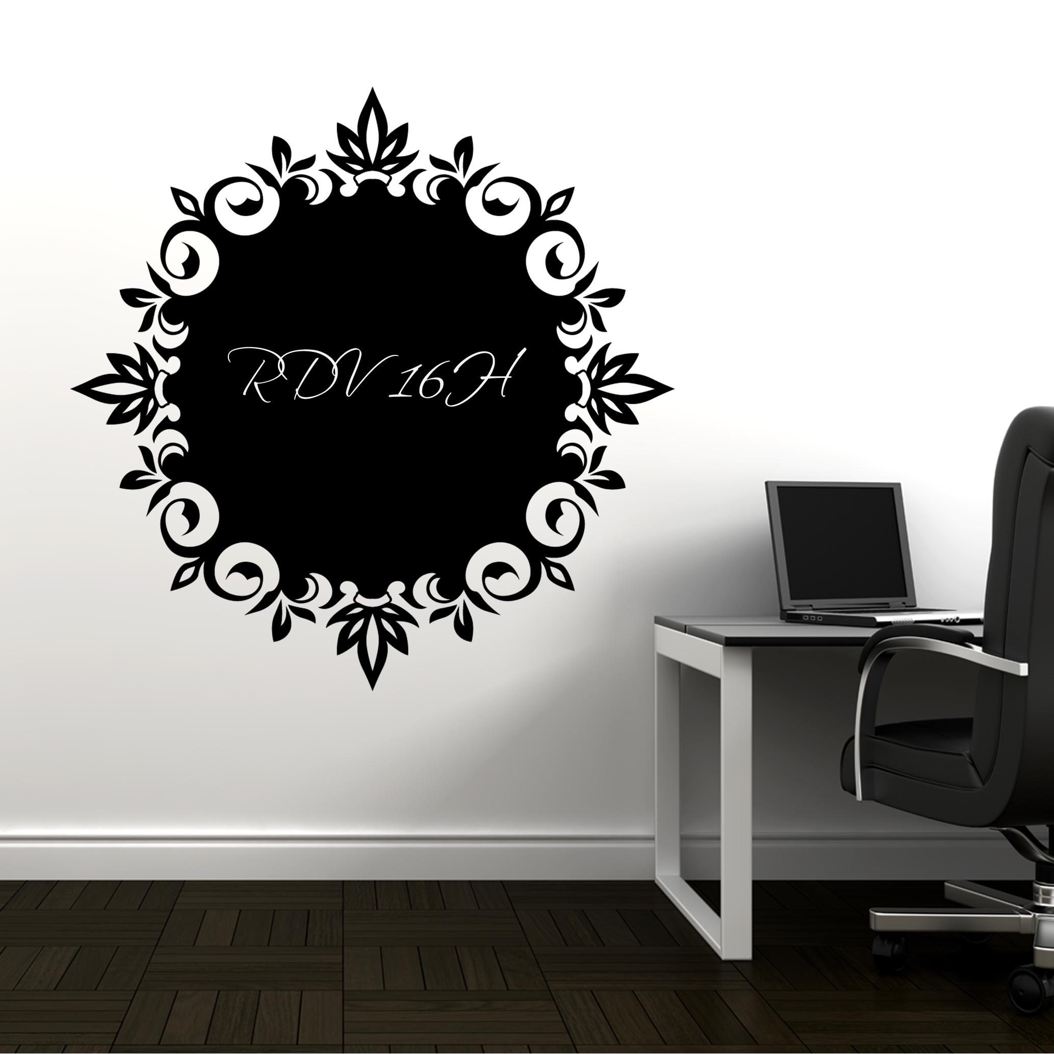 stickers ardoise ornement des prix 50 moins cher qu 39 en magasin. Black Bedroom Furniture Sets. Home Design Ideas