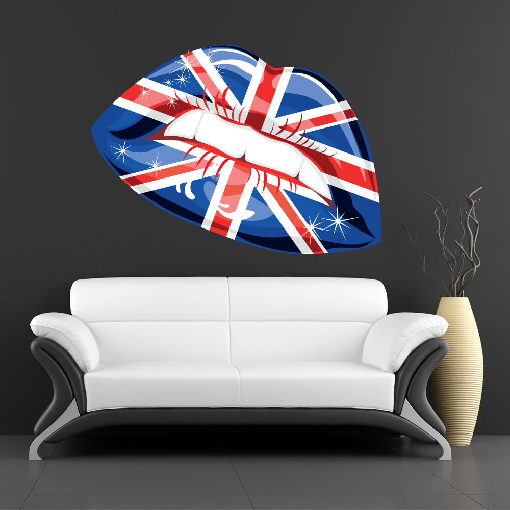 stickers bouche london des prix 50 moins cher qu 39 en magasin. Black Bedroom Furniture Sets. Home Design Ideas