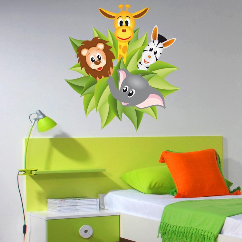 Stickers jungle des prix 50 moins cher qu 39 en magasin - Jungle wandtattoo ...