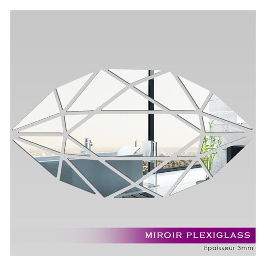 Miroir plexiglass acrylique verticale mosa que des for Miroir 80x150