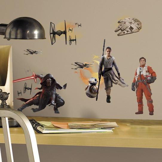 15 Stickers Géant Star Wars Le Réveil de la Force