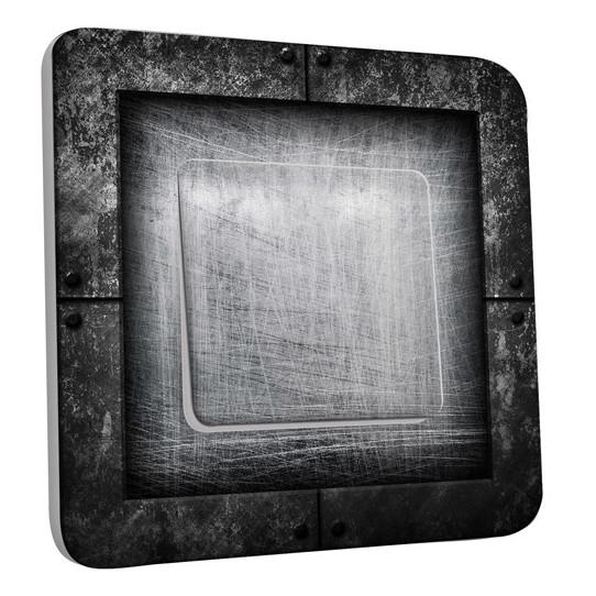 Interrupteur Décoré Simple Abstrait gris