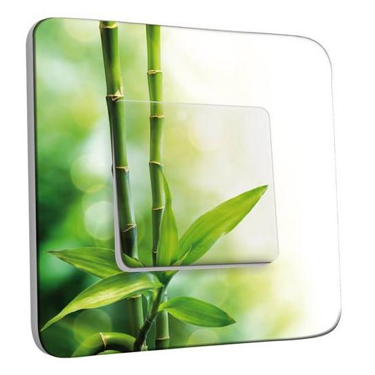 Interrupteur Décoré Simple  Canne de bambou