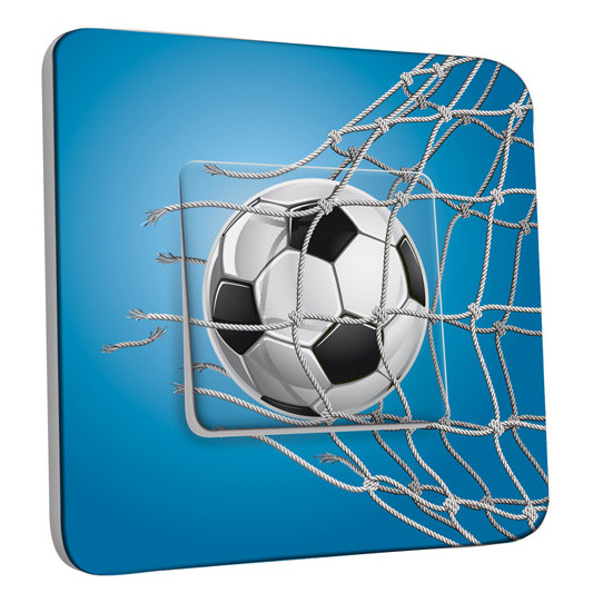 Interrupteur Décoré Simple Football Bleu