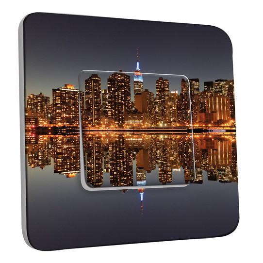 Interrupteur Décoré Simple New York Manhatan