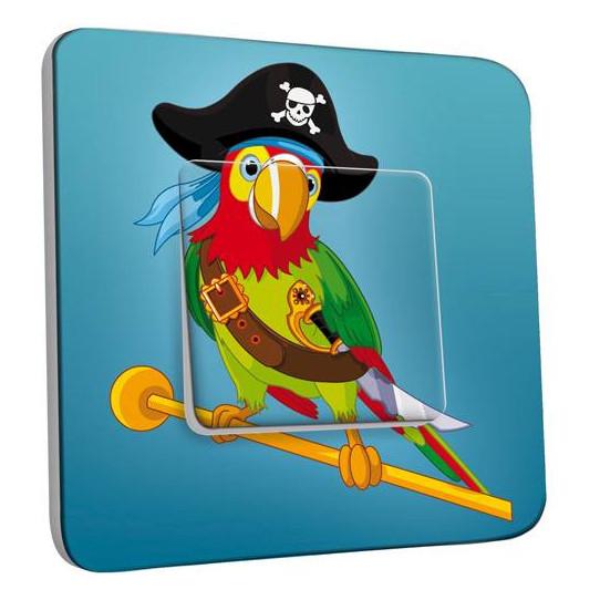 Interrupteur Décoré Simple Perroquet Pirate Enfant