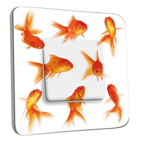 Interrupteur dcor simple va et vient poissons rouge for Prix poisson rouge jardiland
