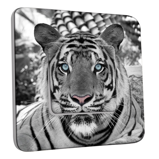 Interrupteur Décoré Simple Tigre Black&White