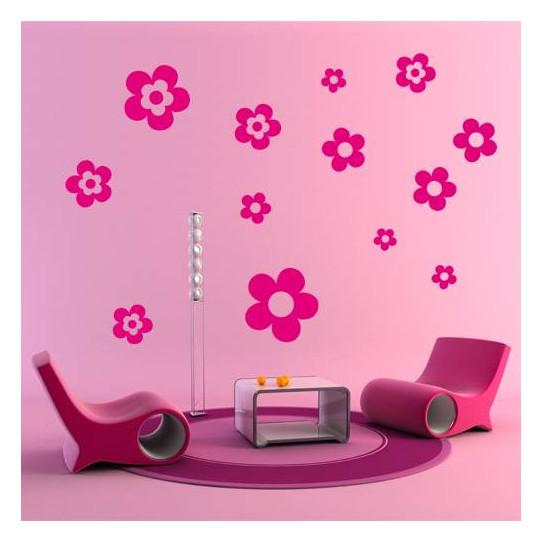 Kit 13 Stickers Fleurs