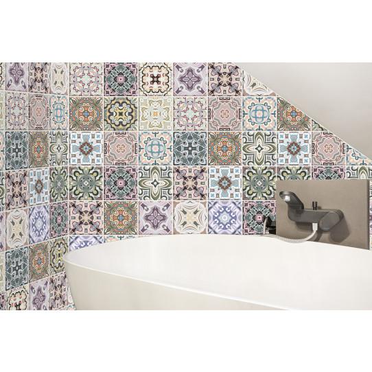 kit 36 stickers carreaux de ciment des prix 50 moins. Black Bedroom Furniture Sets. Home Design Ideas