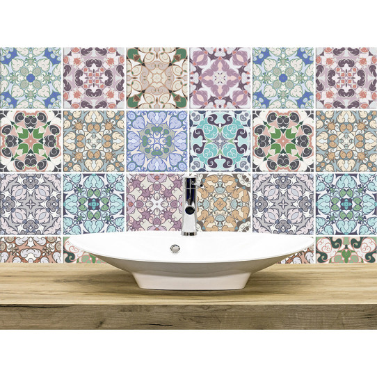 kit 36 stickers carreaux de ciment des prix 50 moins cher qu 39 en magasin. Black Bedroom Furniture Sets. Home Design Ideas