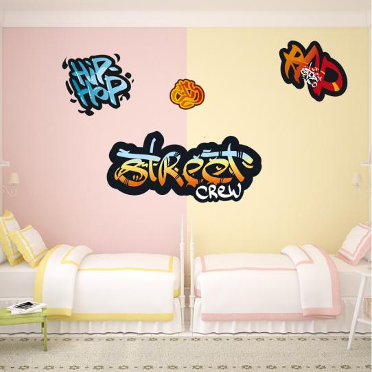 kit 4 Stickers graffitis