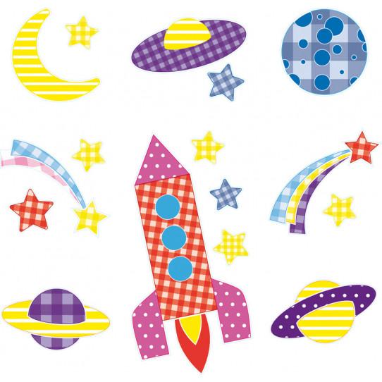 kit 9 stickers espace