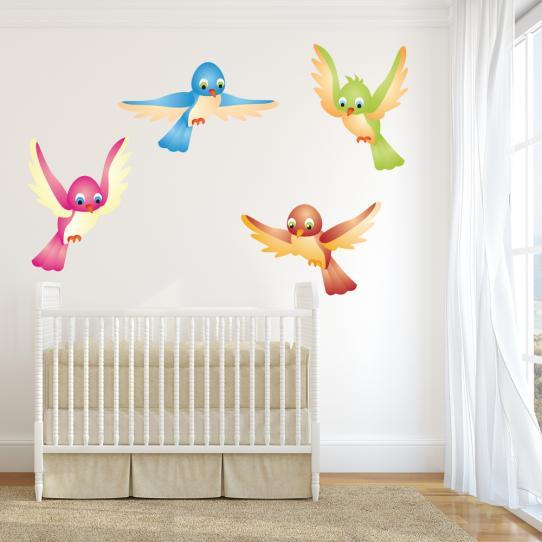 Kit stickers 4 oiseaux