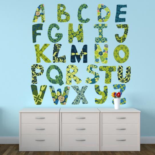 Autocollant Stickers muraux enfant alphabet