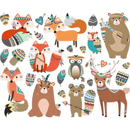 f2b561234b46 kit stickers animaux indiens - Des prix 50% moins cher qu en magasin