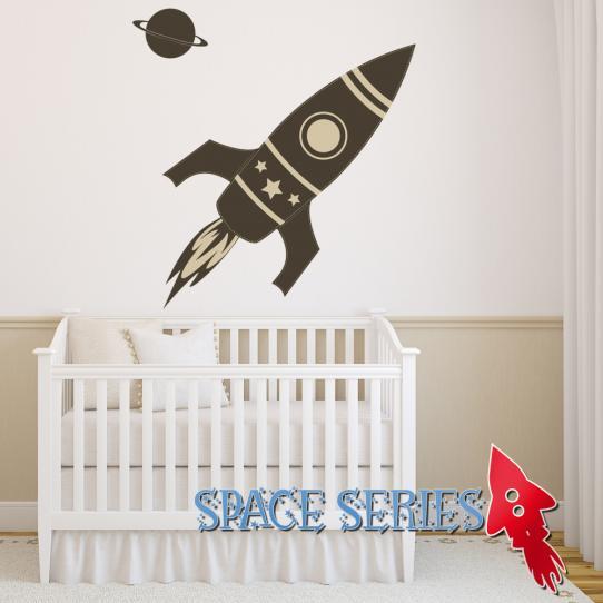 Autocollant Stickers muraux enfant fusée