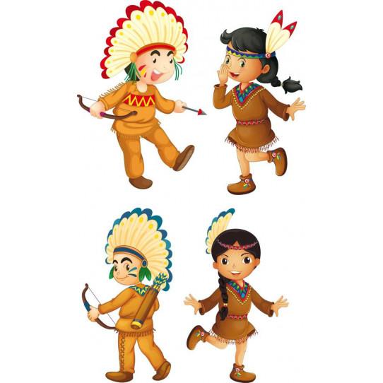 Kit stickers indien des prix 50 moins cher qu 39 en magasin - Dessin anime indien cheval ...