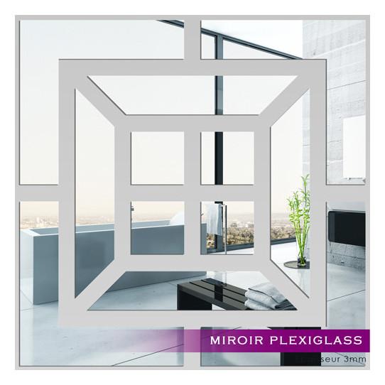 Miroir plexiglass acrylique carr 2 des prix 50 moins for Miroir 100x100