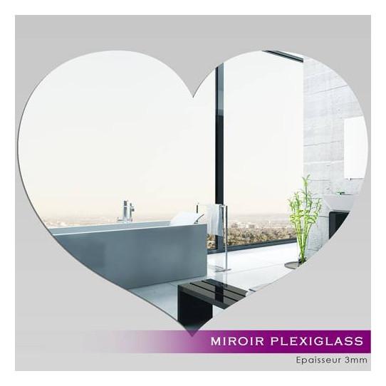 Miroir plexiglass acrylique coeur des prix 50 moins for Miroir acrylique