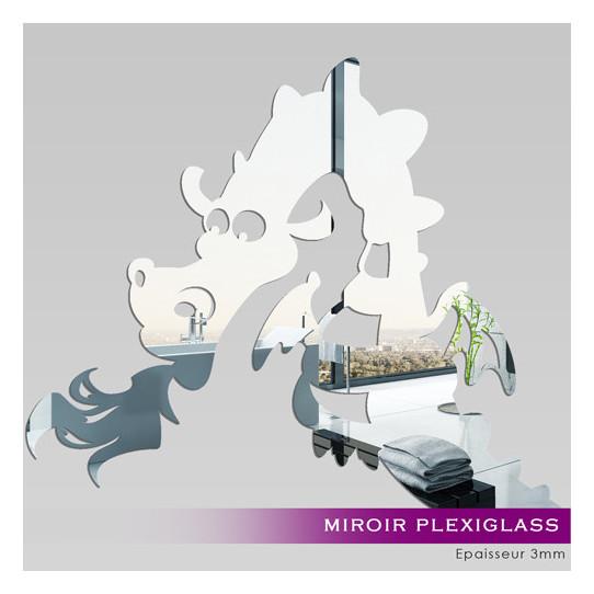 Miroir plexiglass acrylique dragon des prix 50 moins for Stickers muraux miroir pas cher