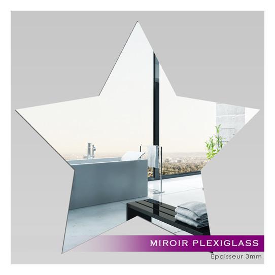 Miroir Acrylique Plexiglass Etoile