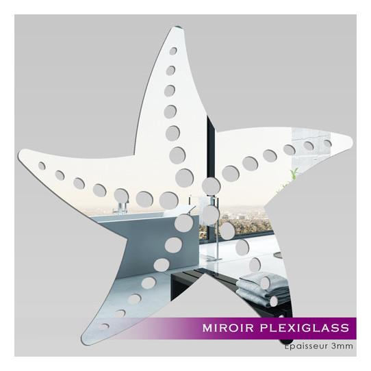 Miroir plexiglass acrylique etoile de mer 2 des prix 50 for Stickers muraux miroir pas cher