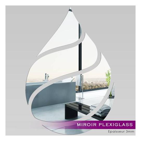 Miroir plexiglass acrylique goutte maxi des prix 50 for Miroir acrylique