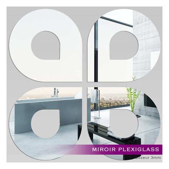 Miroir plexiglass acrylique gouttes maxi des prix 50 for Miroir 100x100