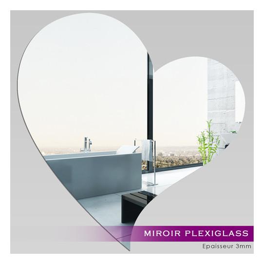 Miroir Plexiglass Acrylique Grand Coeur Des Prix 50