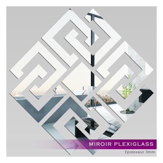 Miroir plexiglass acrylique losange design 2 des prix for Miroir en acrylique