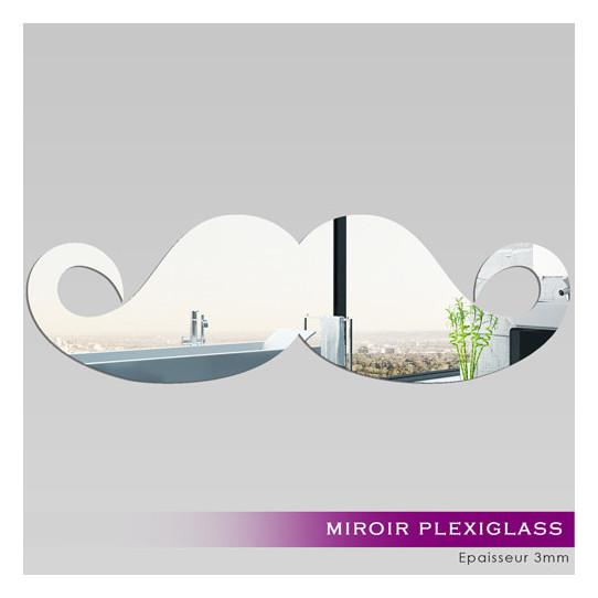 Miroir plexiglass acrylique moustache 2 des prix 50 for Stickers muraux miroir pas cher