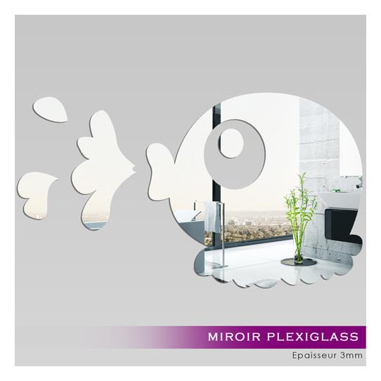 Miroir plexiglass acrylique poisson des prix 50 moins for Stickers muraux miroir pas cher
